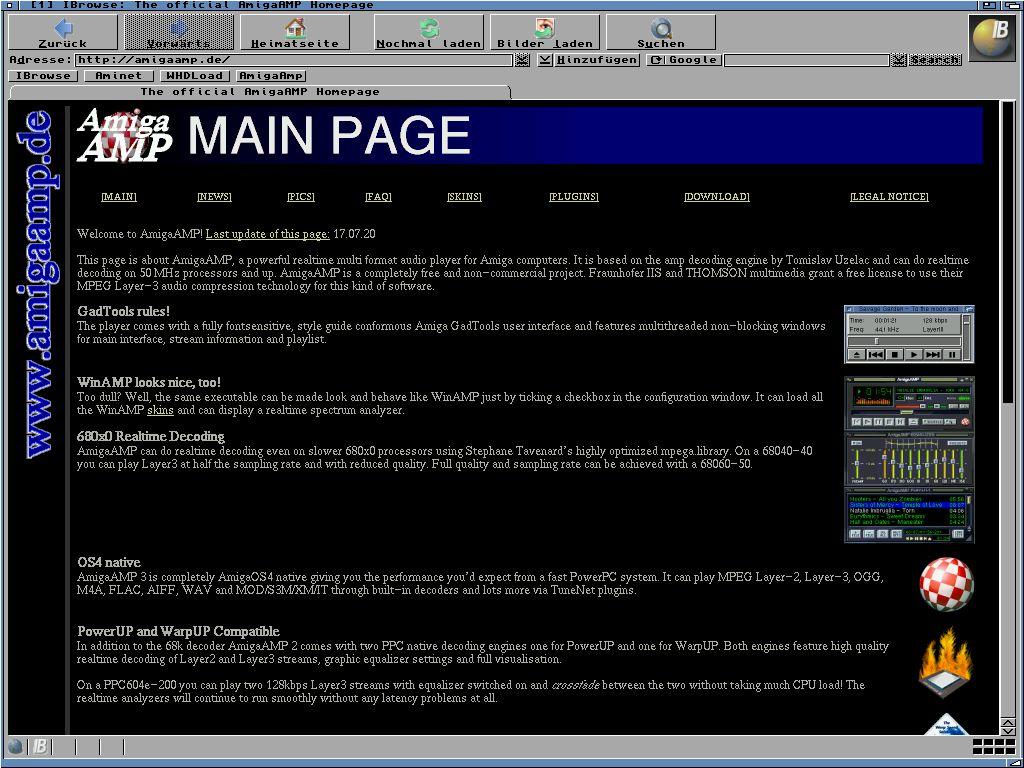 Der Amiga und das Internet. Damals und heute.